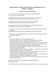Study Questions Ch. 7-12