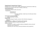 Organizational Communications Chapter 2_ Transactional and Balance Approach