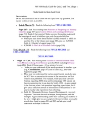 PSY 400 Study Guide for Quiz 2 and Test 2