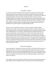 Mod 6 - Social Media Positive and Video Game Aggression.docx