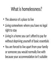 What is homelessness.pptx