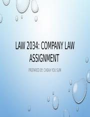LAW 2034 Assignment Briefing - Guide to Developing an Answer.pptx