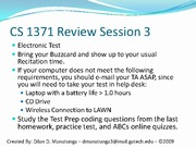 CS 1371 Review Session 3[1] (2)