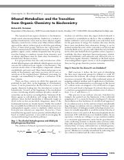 Ethanol Metabolism and the Transition from Organic Chemistry to Biochemistry.pdf