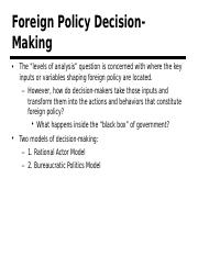 06. Foreign Policy Decision Making (3.2)