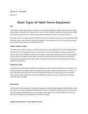 Basic Types Of Table Tennis Equipment.docx