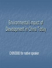 1.4 - Environmental Impact of Development in China Today.pdf