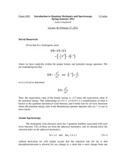 CHEM 4502 - Lecture 16 - 2012