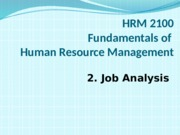 2 Job analysis