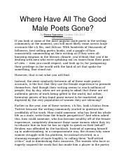 Where Have All The Good Male Poets.docx