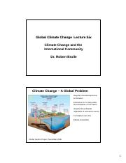 Global Climate Change Lecture Six Slides