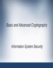 Week13_Basic and Advanced Cryptography