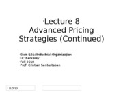 Lecture8_More Advanced Pricing