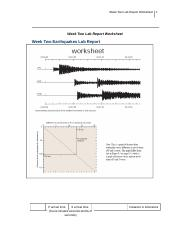 Earthquake lab report