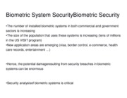 Biometric System SecurityBiometric Security