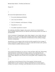 MGMT340MichaelSianoWeek6Problems and Excercises (2).docx