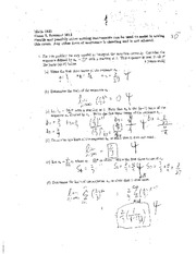 Exam C Summer 2011 Solutions on Calculus