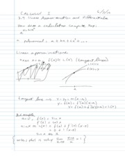 3.9 - Linear Approximations and Differentials