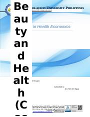 Project in Economics (Beauty and health) case prob.docx