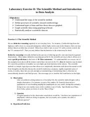 Laboratory Exercise II The Scientific Method and Introduction to Data Analysis_Ecology (1).docx