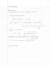 Chapter 5.3-5.4 Notes Evaluating Integrals