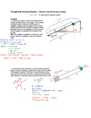 17 - 2D rigid body rotational kinetics - Newton's 2nd law