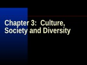 Lecture Notes Chapter 3 Culture Society and Diversity