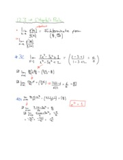 Section 12.3 Notes on L'Hopital's Rule