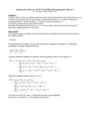 Homework D Solutions on Graduate Electromagnetics