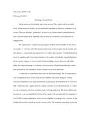 deviance essay deviance in a sociological context describes 3 pages breaking social norm