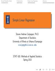 1. simple linear regression