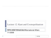 Lecture 12 Kant III