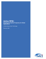 Active rfid tags - whitepaper by Savi