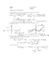 Worksheet 4 Solution on Calculus 1