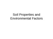 7 - Soil Properties and Environmental Factors