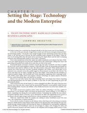Chapter 1 Setting the Stage Technology and the Modern Enterprise