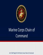 LE1-C5S6T3pg331-334 Marine Corps Chain of Command.ppt.ppt