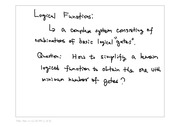 Lecture: Logical Functions
