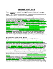 No Ukraine War