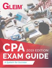 CPA Exam Guide 2019 Ed GLEIM.pdf