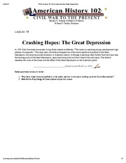 H102 Lecture 18_ The Crash and the Great Depression