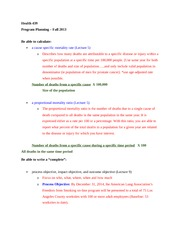 Exam Review - Calculations and Writing Objectives