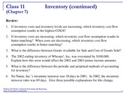 Accounting 11 Inventory II