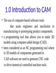 Lecture 1 Introduction to CAM..pptx