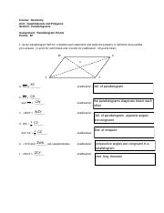 83867 - Course Geometry Unit Quadrilaterals and Polygons ...