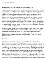 Sociology of Education Theory_ Feminist Perspectives Research Paper Starter - eNotes.pdf