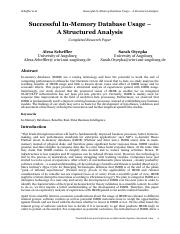 Successful In-Memory Database Usage - A Structured Analysis.pdf