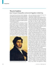 Robinson A 2012 The art of Medicine - Jean-Francois Champollion and ancient Egyptian embalming. Lanc
