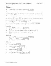 Solutions problems book lecture 1