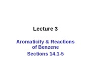 CH 2536 Lecture 03 Arom 14.1 - 14.7